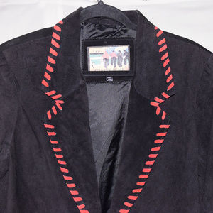 Atlantic Beach (L)Leather Coat Black Womens Jacket